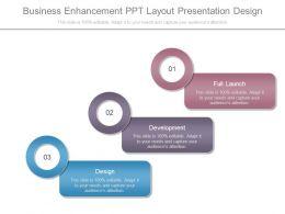 Business Enhancement Ppt Layout Presentation Design