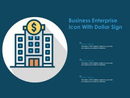 Business Enterprise Icon With Dollar Sign