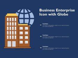 Business Enterprise Icon With Globe