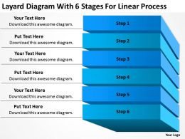 Business Entity Diagram 6 Stages For Linear Process Powerpoint Templates PPT Backgrounds Slides