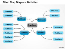 Business Entity Diagram Mind Map Statistics Powerpoint Templates 0515