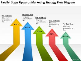 Business Entity Diagram Parallel Steps Upwards Marketing Strategy Flow Powerpoint Slides