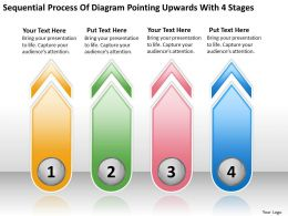 Business Entity Diagram Process Of Pointing Upwards With 4 Stages Powerpoint Slides