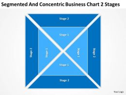 Business Entity Diagram Segmented And Concentric Chart 2 Stages Powerpoint Templates