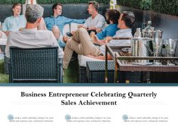 Business Entrepreneur Celebrating Quarterly Sales Achievement