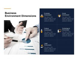 Business Environment Dimensions Ppt Powerpoint Presentation Structure