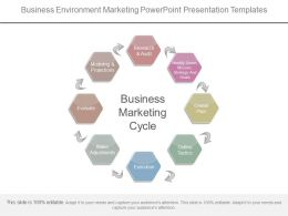 Business Environment Marketing Powerpoint Presentation Templates