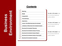 Business Environment Powerpoint Templates