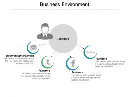Business Environment Ppt Powerpoint Presentation Icon Infographics Cpb