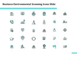 Business Environmental Scanning Icons Slide Growth L984 Ppt Ideas