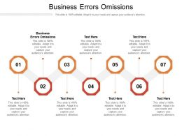 Business Errors Omissions Ppt Powerpoint Presentation Slides Information Cpb