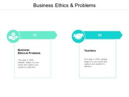 Business Ethics And Problems Ppt Powerpoint Presentation Gallery Cpb