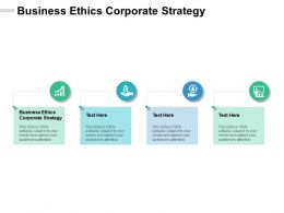 Business Ethics Corporate Strategy Ppt Powerpoint Presentation Outline Graphics Design Cpb