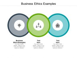 Business Ethics Examples Ppt Powerpoint Presentation Infographics Brochure Cpb