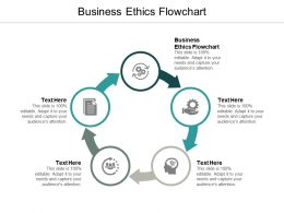Business Ethics Flowchart Ppt Powerpoint Presentation Portfolio Gridlines Cpb
