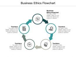 Business Ethics Flowchart Ppt Powerpoint Presentation Portfolio Gridlines Cpb