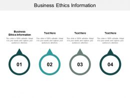 Business Ethics Information Ppt Powerpoint Presentation Model Guide Cpb