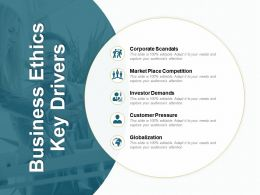 Business Ethics Key Drivers Investor Demands Ppt Powerpoint Presentation Diagram Lists