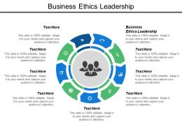 Business Ethics Leadership Ppt Powerpoint Presentation Model Graphics Cpb