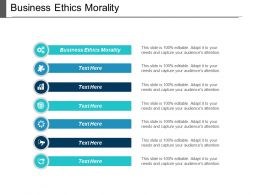 Business Ethics Morality Ppt Powerpoint Presentation File Graphics Pictures Cpb