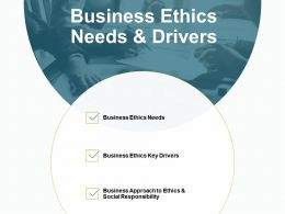 Business Ethics Needs And Drivers Approach B130 Ppt Powerpoint Presentation File Files