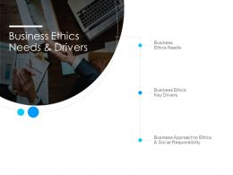 Business Ethics Needs And Drivers Ppt Powerpoint Presentation Slides