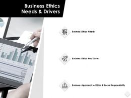 Business Ethics Needs And Drivers Responsibility Powerpoint Slides