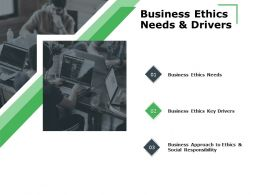Business Ethics Needs And Drivers Technology Ppt Powerpoint Presentation Layouts Topics