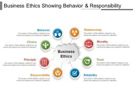 Business Ethics Showing Behavior And Responsibility