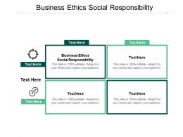 Business Ethics Social Responsibility Ppt Powerpoint Presentation Slides Guidelines Cpb