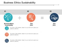 Business Ethics Sustainability Ppt Powerpoint Presentation Icon Graphics Pictures Cpb