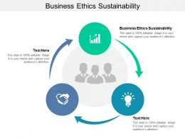 Business Ethics Sustainability Ppt Powerpoint Presentation Slides Ideas Cpb