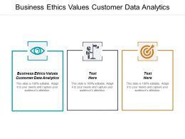 Business Ethics Values Customer Data Analytics Ppt Powerpoint Presentation Infographics Demonstration Cpb