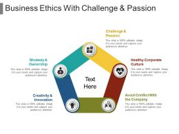 Business Ethics With Challenge And Passion