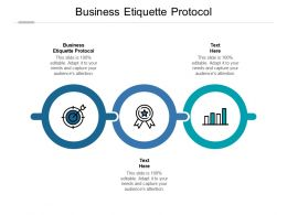 Business Etiquette Protocol Ppt Powerpoint Presentation File Slide Cpb