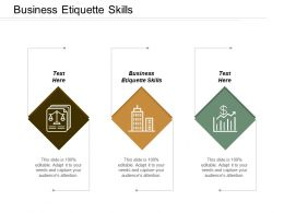 Business Etiquette Skills Ppt Powerpoint Presentation Infographics Show Cpb