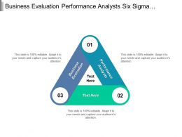 Business Evaluation Performance Analysts Six Sigma Marketing Financial Analysts Cpb