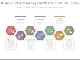 Business Evaluation Tracking Template Powerpoint Slide Themes