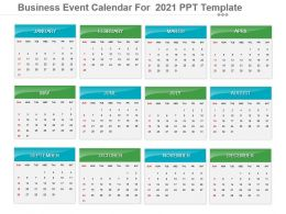 Business Event Calendar For 2021 Ppt Template
