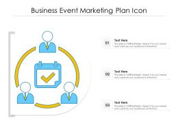 Business Event Marketing Plan Icon