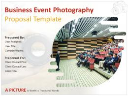 Business Event Photography Proposal Template Powerpoint Presentation Slides