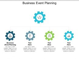 Business Event Planning Ppt Powerpoint Presentation Gallery Slide Cpb