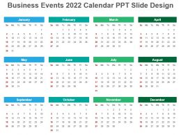 Business Events 2022 Calendar Ppt Slide Design