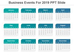 Business Events For 2019 Ppt Slide