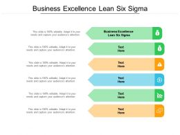 Business Excellence Lean Six Sigma Ppt Powerpoint Presentation Infographics Cpb
