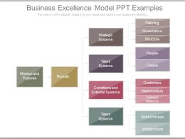 Business Excellence Model Ppt Examples
