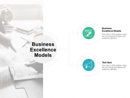 Business Excellence Models Ppt Powerpoint Presentation Gallery Graphics Pictures Cpb