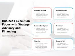 Business Execution Focus With Strategy Advisory And Financing