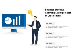 Business Executive Analyzing Strategic Vision Of Organisation