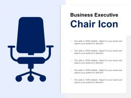 Business Executive Chair Icon